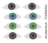 various color types of eyes ... | Shutterstock .eps vector #721006561