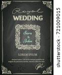 chalkboard designed vintage... | Shutterstock .eps vector #721009015