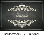 chalkboard designed vintage...   Shutterstock .eps vector #721009021