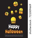 halloween background vector... | Shutterstock .eps vector #721009669