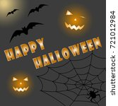 halloween background. vector... | Shutterstock .eps vector #721012984
