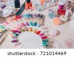 nail handmade samples. design... | Shutterstock . vector #721014469