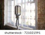 retro microphone.musical... | Shutterstock . vector #721021591