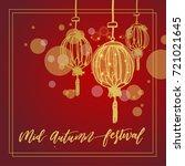 chinese mid autumn festival... | Shutterstock .eps vector #721021645