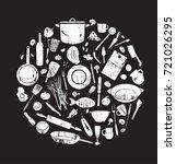 vintage elements for restaurant ...   Shutterstock .eps vector #721026295