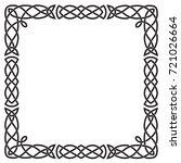 celtic pattern  square black...   Shutterstock .eps vector #721026664