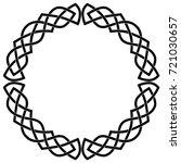 round celtic frame. black... | Shutterstock .eps vector #721030657