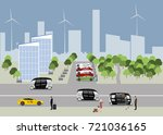 the city of the future concept. ... | Shutterstock .eps vector #721036165