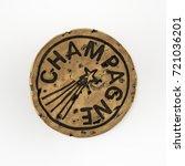 generic champagne cork shot... | Shutterstock . vector #721036201