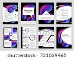 abstract vector layout... | Shutterstock .eps vector #721039465