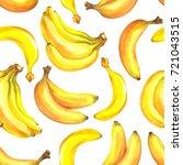 banana seamless pattern.... | Shutterstock . vector #721043515