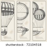 retro banners  old flying... | Shutterstock .eps vector #72104518