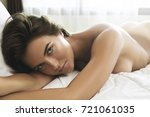 beautiful woman with sexy and... | Shutterstock . vector #721061035