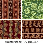 set of mexican seamless tiles ... | Shutterstock .eps vector #72106387