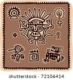 vector set of mexican design... | Shutterstock .eps vector #72106414
