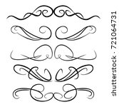 decorative monograms and... | Shutterstock .eps vector #721064731