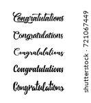 congratulations lettering.... | Shutterstock .eps vector #721067449
