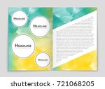 abstract vector layout... | Shutterstock .eps vector #721068205