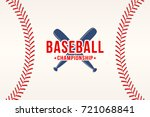 baseball background. baseball... | Shutterstock .eps vector #721068841