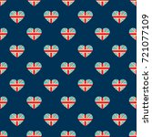 english heart flag pattern ... | Shutterstock .eps vector #721077109