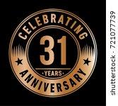 31 years anniversary logo.... | Shutterstock .eps vector #721077739