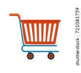 shopping cart flat vector.... | Shutterstock .eps vector #721081759