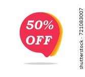 50  off sale discount banner.... | Shutterstock .eps vector #721083007