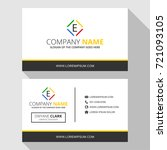 e simple business card with... | Shutterstock .eps vector #721093105