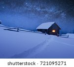 night with stars. christmas... | Shutterstock . vector #721095271