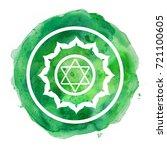 chakra symbol watercolor... | Shutterstock . vector #721100605