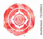 chakra symbol watercolor... | Shutterstock . vector #721100611