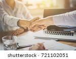 business people shaking hands ... | Shutterstock . vector #721102051