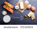 black slate table with product... | Shutterstock . vector #721103521
