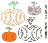 the vegetable pumpkin  the... | Shutterstock .eps vector #721105009