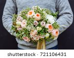 bride's bouquet | Shutterstock . vector #721106431