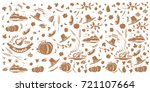 thanksgiving and autumn pattern.... | Shutterstock .eps vector #721107664