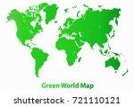 green orld map illustration. | Shutterstock .eps vector #721110121