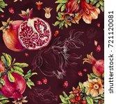 Pomegranate.  Watercolor...
