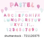 Balloon Font Design In Pastel...
