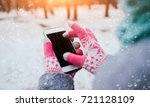woman using smartphone in... | Shutterstock . vector #721128109