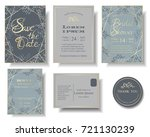 set of wedding invitation card .... | Shutterstock .eps vector #721130239
