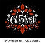 christmas postcard with... | Shutterstock .eps vector #721130857