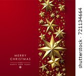 red christmas background... | Shutterstock .eps vector #721134664