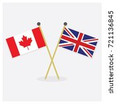 crossed canada flag and union... | Shutterstock .eps vector #721136845
