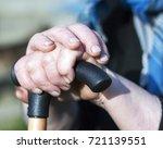 closeup of senior woman's hands ... | Shutterstock . vector #721139551