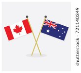 crossed canada and australia... | Shutterstock .eps vector #721140349