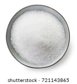 bowl of sugar isolated on white ... | Shutterstock . vector #721143865
