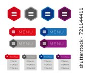 mobile ui dropdown menu icon...