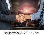 closeup of business people... | Shutterstock . vector #721146724