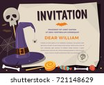 happy halloween. template... | Shutterstock .eps vector #721148629